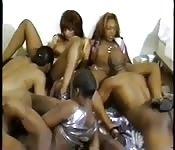Une orgie plein de talents black