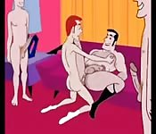 Dessin animé parodique gay